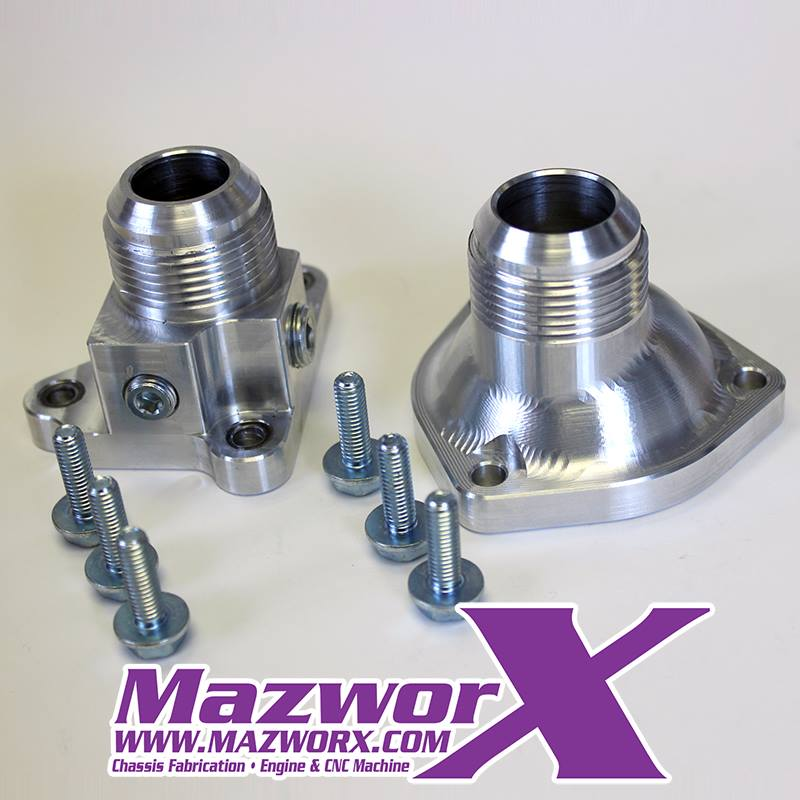 Mazworx SR20 RWD Billet Water Neck/Thermo Housing Set