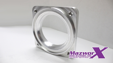 Mazworx Throttle Body Flange, Mustang 75mm
