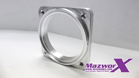 Mazworx Throttle Body Flange, Mustang 90mm