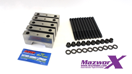 "Mazworx SR20 Billet Main Caps with 1/2"" Studs"