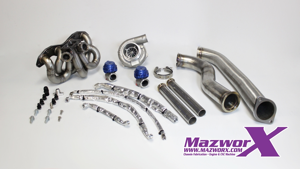 Mazworx - Mazworx SR20 RWD Twin Scroll Top Mount Turbo Kit #70003