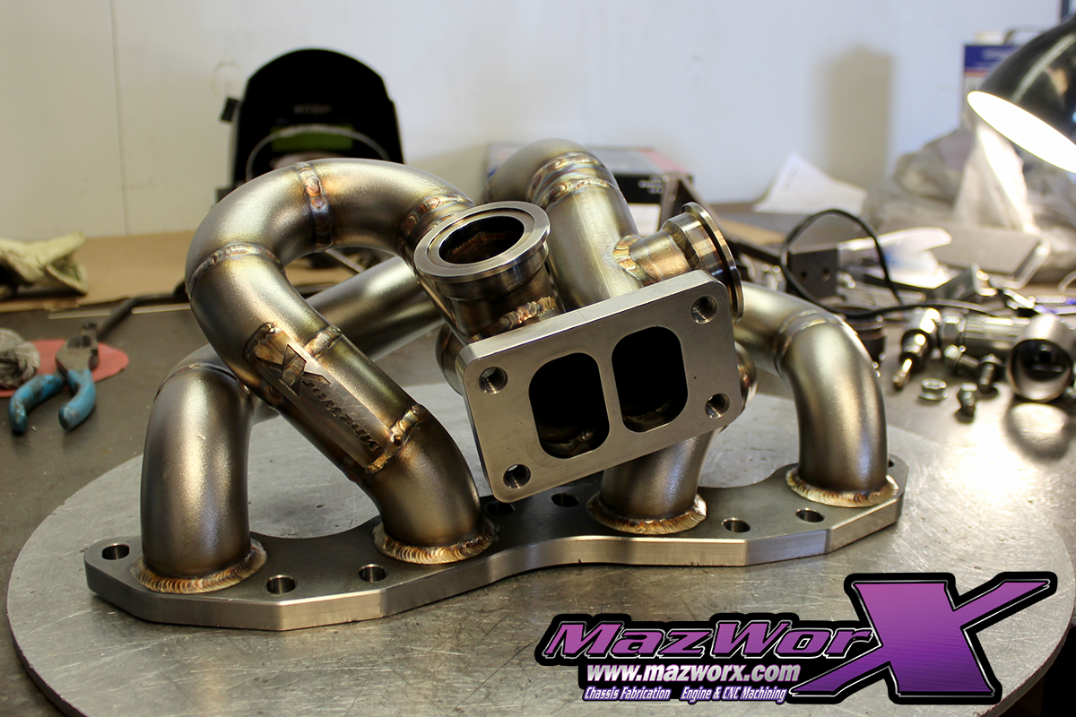 Mazworx - Mazworx SR20 RWD Twin Scroll Top Mount Turbo Kit