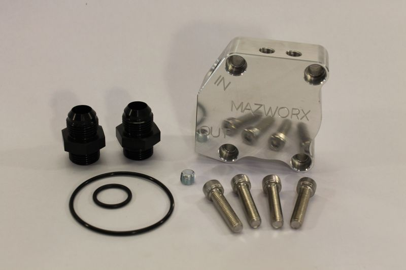 Mazworx SR20DET GTi-R Oil Block Adapter